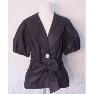 3 Sisters Jacket Short Puff Sleeve Jacket Blazer